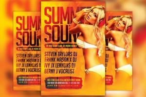 Hot Summer DJ Flyer Template