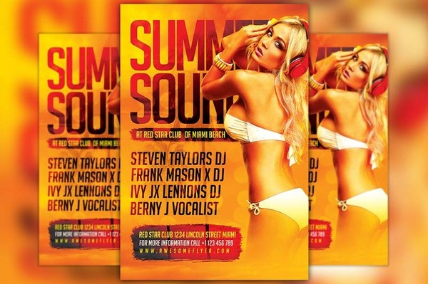 Hot Summer DJ Flyer Template