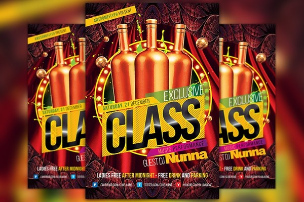 Exclusive Class Flyer Template