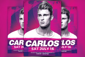 DJ Carlos Club Party Flyer Template