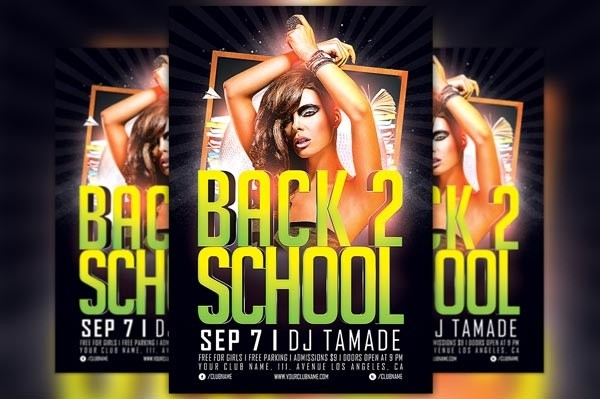 Back 2 School Party Flyer Template