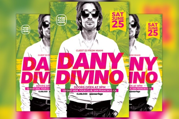 DJ Dany Club Party Flyer Template