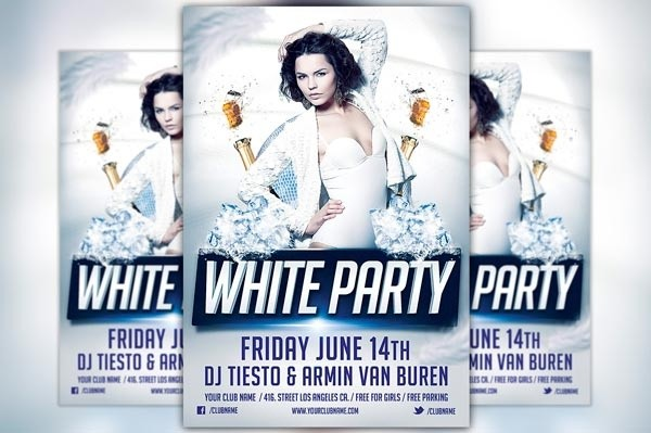 White Party Flyer Template Vol.1