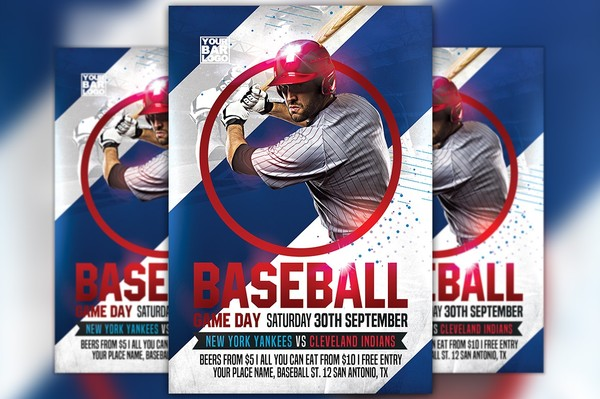 Baseball Game Day Vol 2 Flyer Template