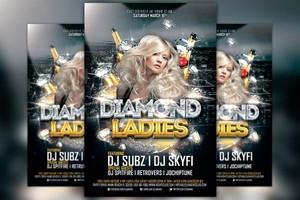Diamond Ladies Club Flyer Template