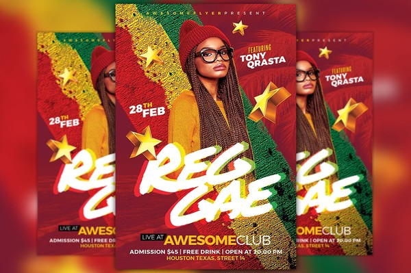 Reggae Dancehall Flyer Template