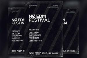 No EDM Festival Flyer Template