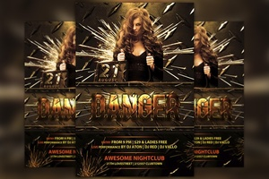 Danger Club Flyer Template