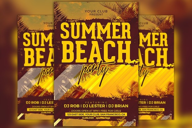 Summer Beach Party Flyer Template Awesomeflyer