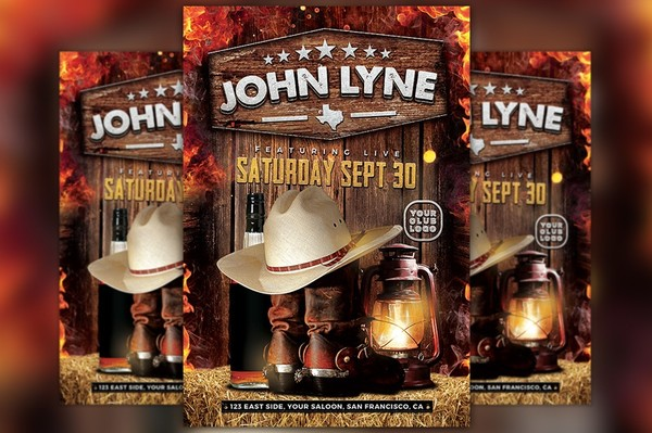 Country Artist Event Flyer Template