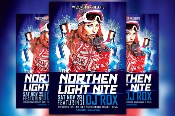 The Northern Light Nite Flyer Template