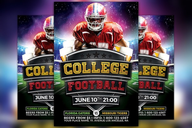 College Football Flyer Template Vol2 Awesomeflyer