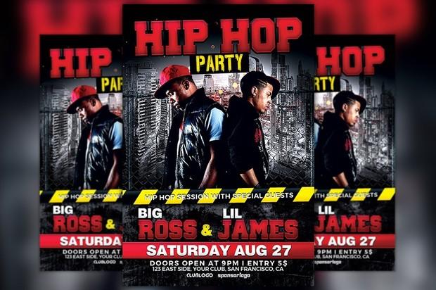 Hip Hop Battle Flyer Template