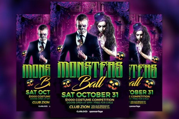 Monsters Ball Flyer Template