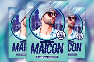 DJ Maicon Party Flyer Template