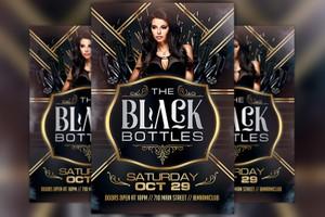 Black Bottles Party Flyer Template