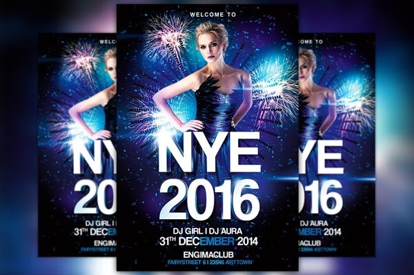 New Years Eve Party Vol 1 Flyer Template