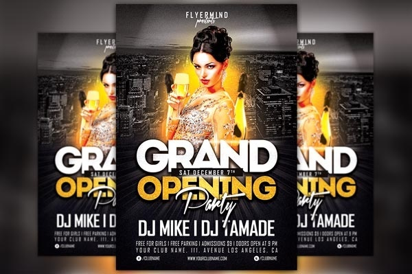 Grand Opening Party Flyer Template Vol 1