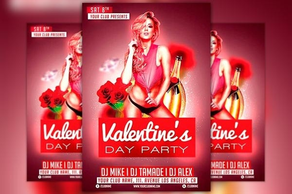 Valentines Day Club Flyer Template