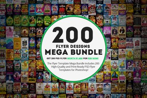 200 Flyer Template Mega Bundle