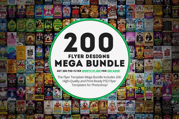 200 Flyer Template Mega Bundle Awesomeflyer