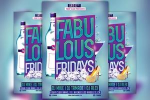 Fabulous Fridays Flyer Template