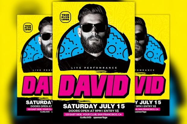 DJ David Club Party Flyer Template