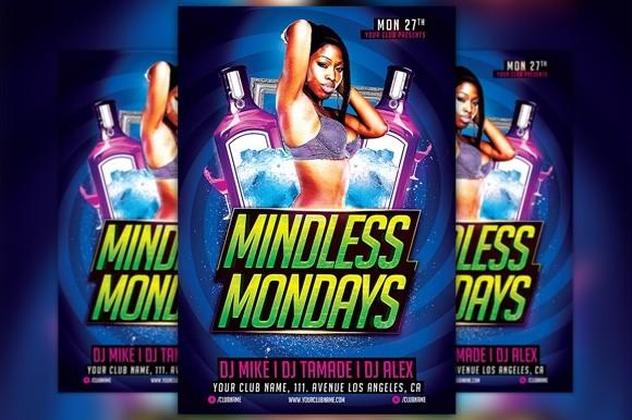 Mindless Mondays Flyer Template