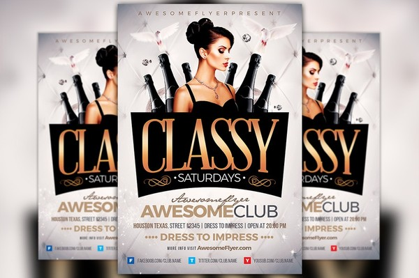 Classy Saturdays Flyer Template