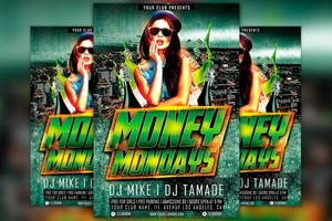 Money Monday Party Flyer Template