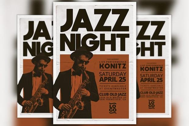 Jazz Concert Music Event Flyer Template
