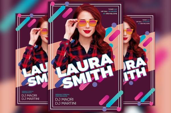 Pop Music DJ Flyer Template