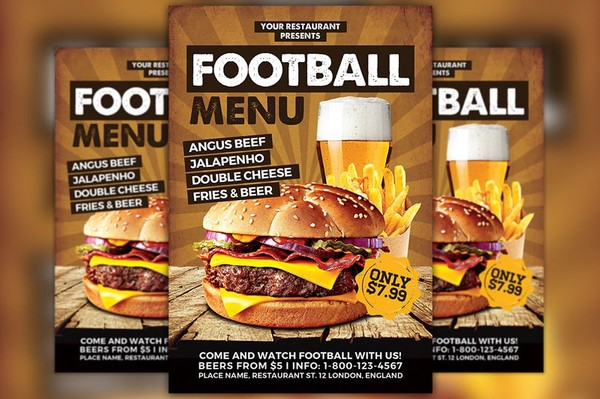 Burgers Food Promotion Menu Flyer Template