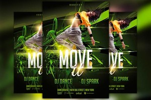Move It Dance Flyer Template