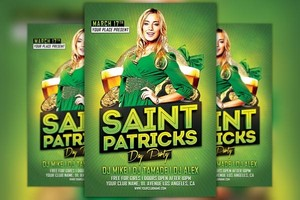 Saint Patricks Day Party Flyer Template