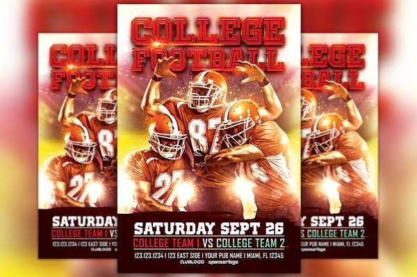 College Football Flyer Template Vol.1
