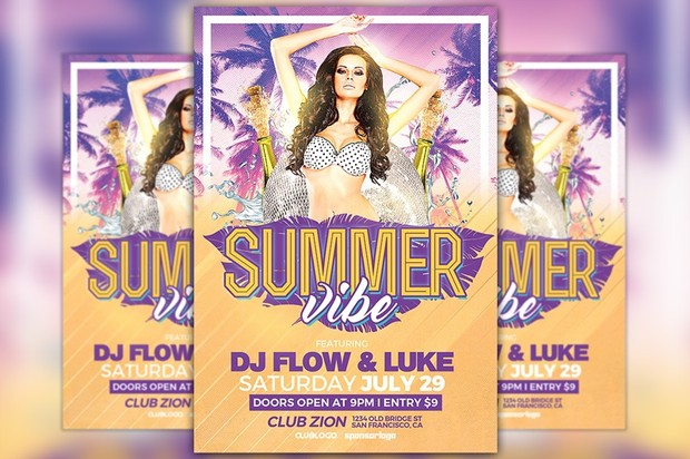 Summer Vibe Party Flyer Template
