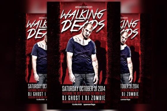 Walking Deads Halloween Party Flyer Template