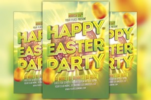 Happy Easter Party Flyer Template
