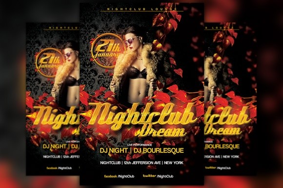 Red Nightclub Party Flyer Template