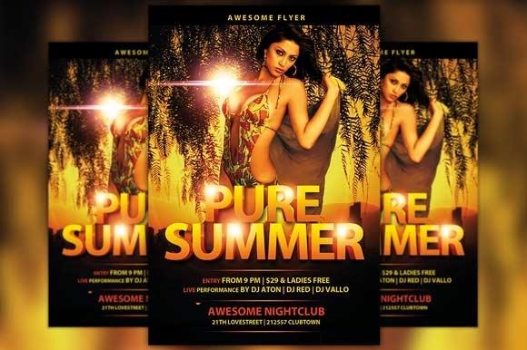 Pure Summer Flyer Template