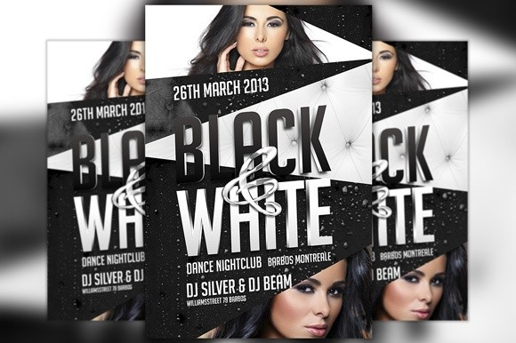 Black And White Party Flyer Template Awesomeflyer