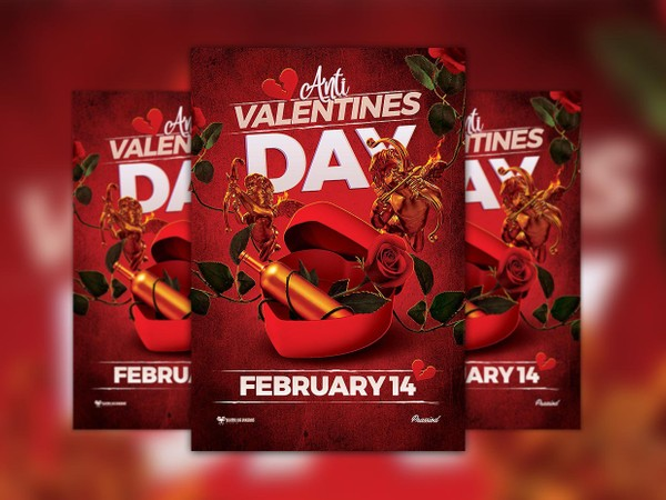 Free Anti Valentine Day Flyer Template