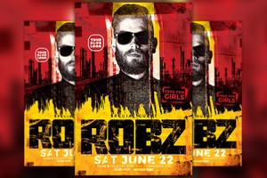 DJ Robz Club Party Flyer Template