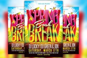 Spring Break Bash Flyer Template