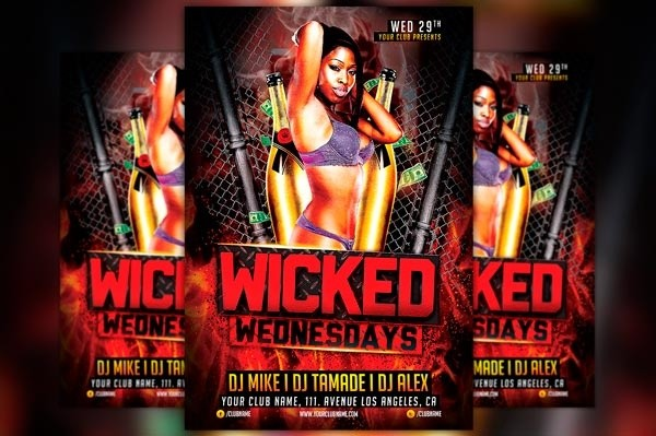 Wicked Wednesday Flyer Template