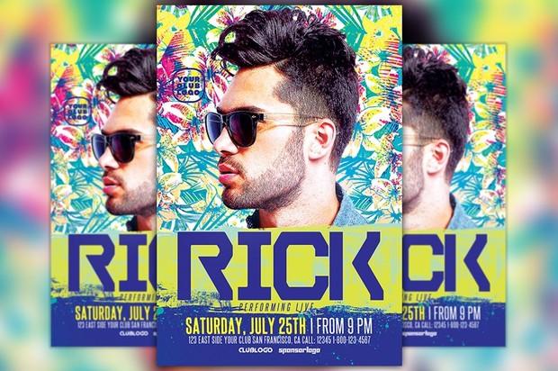 DJ Rick Club Party Flyer Template