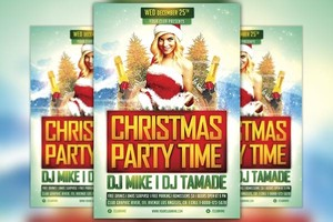 Christmas Party Time Vol 1 Flyer Template