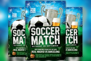 Euro Soccer Match Flyer Template