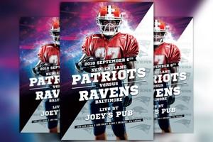 Football Sport Event Flyer Template
